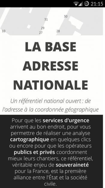 Inauguration officielle de la Base Adresse Nationale
