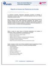 AFIGEO - Objectifs et missions des plateformes territoriales